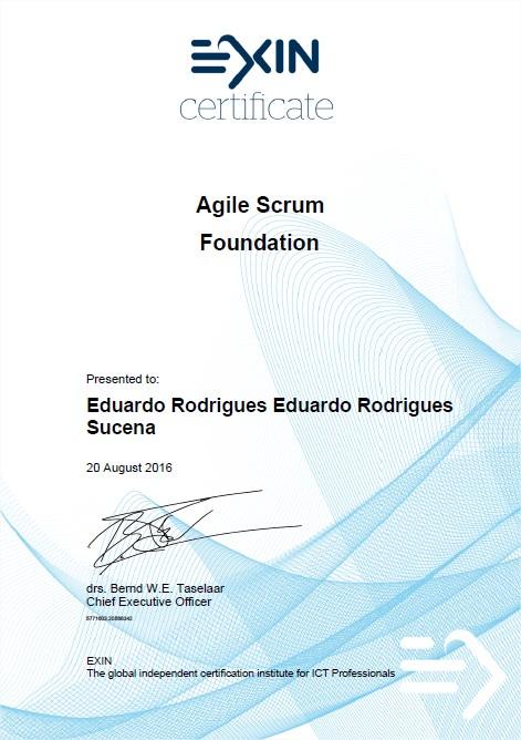 Agile Scrum Foundation Certificate Eduardo Rodrigues Sucena ...