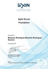 Agile Scrum Foundation Certificate Eduardo Rodrigues Sucena