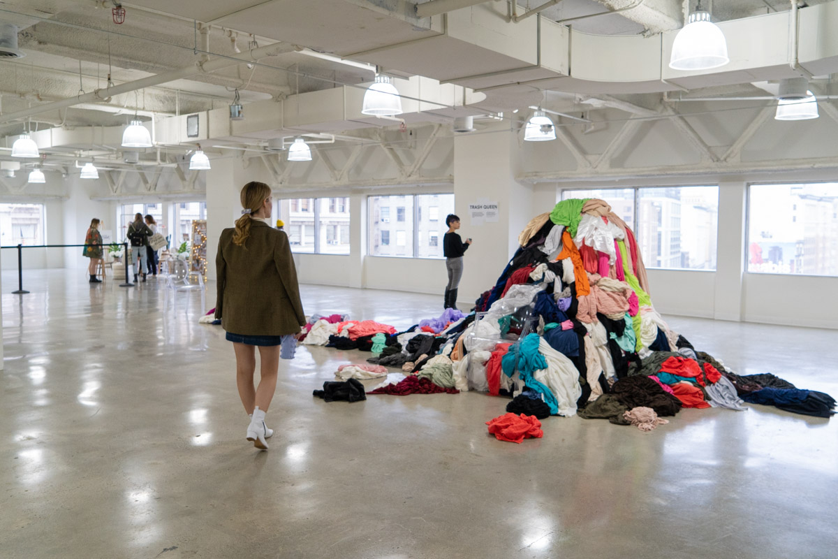 Vegan Fashion Week Trash Queen Installation