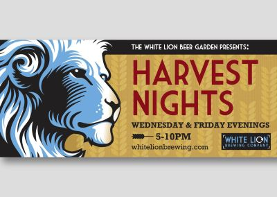 White Lion Fall Banner