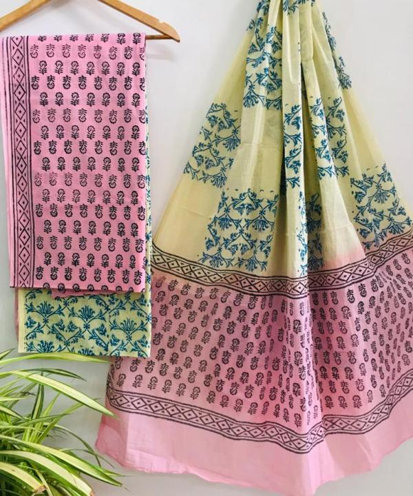 Cotton Suit Material with Beautiful Prints at Best Price