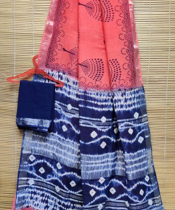 Buy Linen Sarees Online at Lowest Price with Free Shipping