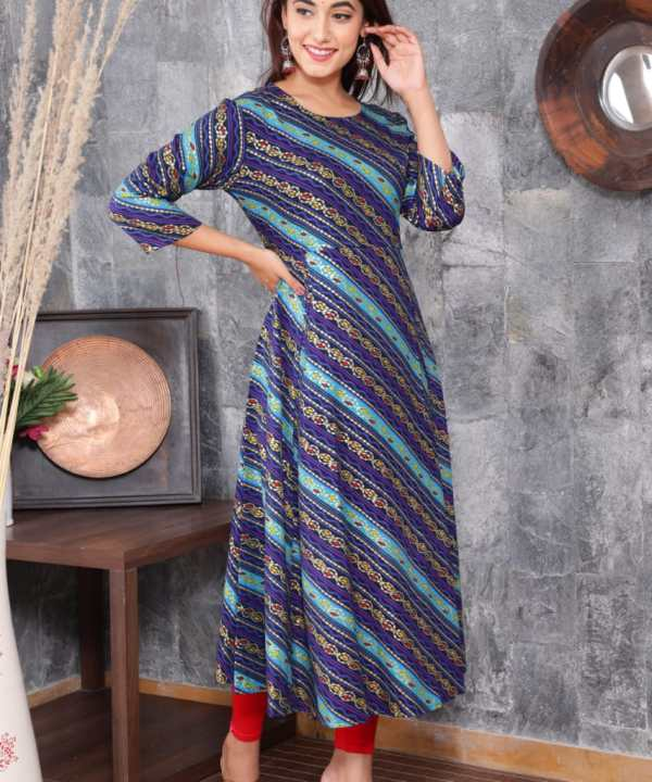 Rayon Fabric Gown