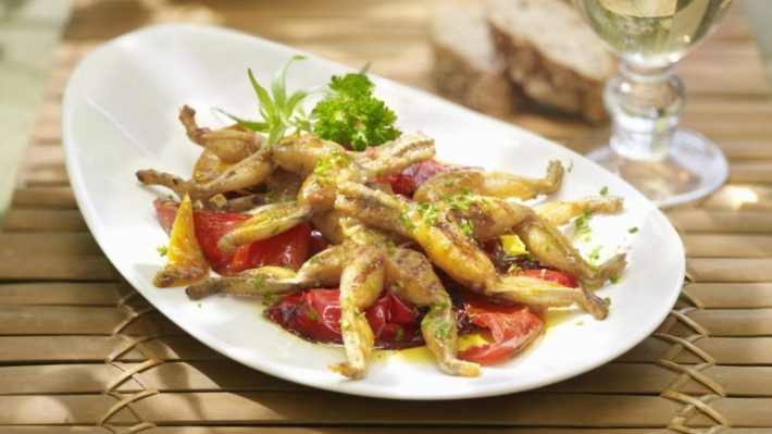 Bizarre Meals People Love to Eat | Frog Legs in China