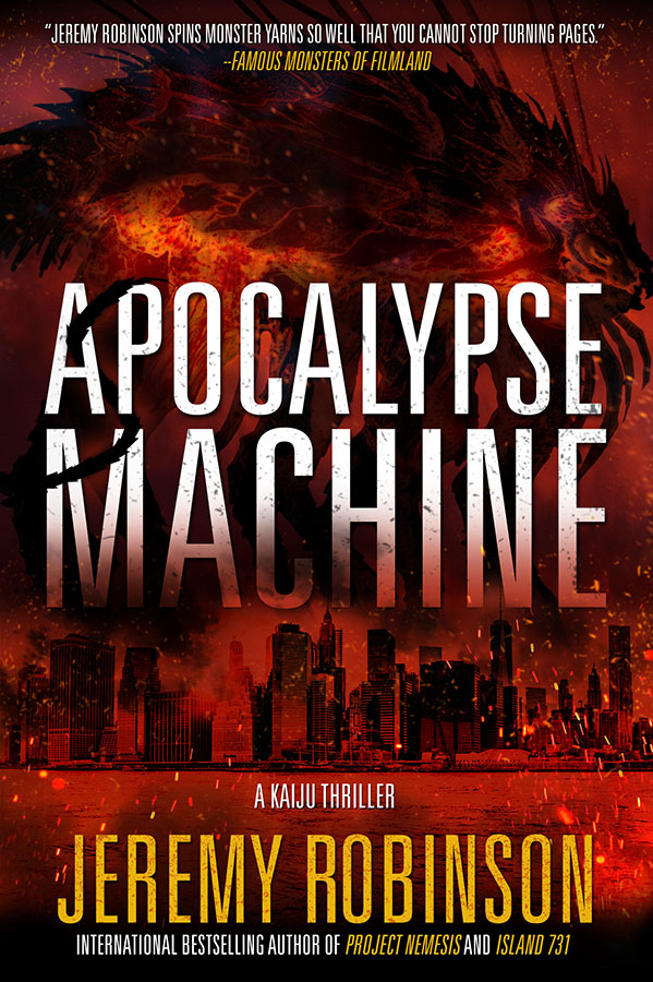 Apocalypse Machine by Jeremy Robinson | 25 Scary Books That Will Keep You Up All Night Awake