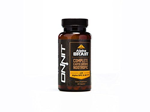 Alpha BRAIN (30ct) The Flagship Complete Balanced Nootropic Supplement by Onnit Labs