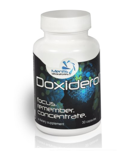 Doxiderol – The Top Brain Supplement for Focus, Memory and Concentration. These Energy Supplement Brain Pills Boost Mental Performance, and Serve as a Cognitive Enhancer. Best Selling Natural Brain Stimulant. (30 Count)