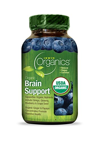 Irwin Naturals Organic Brain Support Diet Supplement, 60 Count