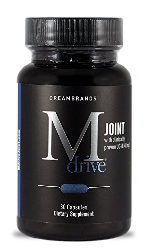 Mdrive Joint UC-II Collagen 40mg with Hyaluronic Acid, Boswellia, Bromelain, and Turmeric for Joint Pain
