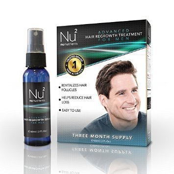 NuNutrients Advanced Hair Regrowth Treatment for Men – Easy-to-use Spray Bottle (One Bottle – 2 FL Oz)