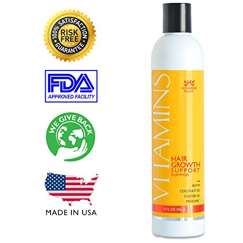 VITAMINS-Hair-Growth-Shampoo-PRICE-REDUCTION-Only-3977-for-a-limited-time-10-savings-per-bottle-121-MORE-HAIR-GROWTH-and-46-LESS-HAIR-LOSS-in-clinical-trials-BIOTIN-Coconut-oil-Castor-oil-and-Natural–0
