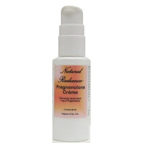 Natural Radiance Pregnenolone Bio identical Creme Precursor To Many Other Hormones, Unscented, 2 Ounce