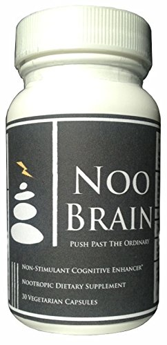 NOO BRAIN – Potent Nootropic Supplement Stack (with Mucuna, Huperzine A, Alpha GPC, Vinpocetine)