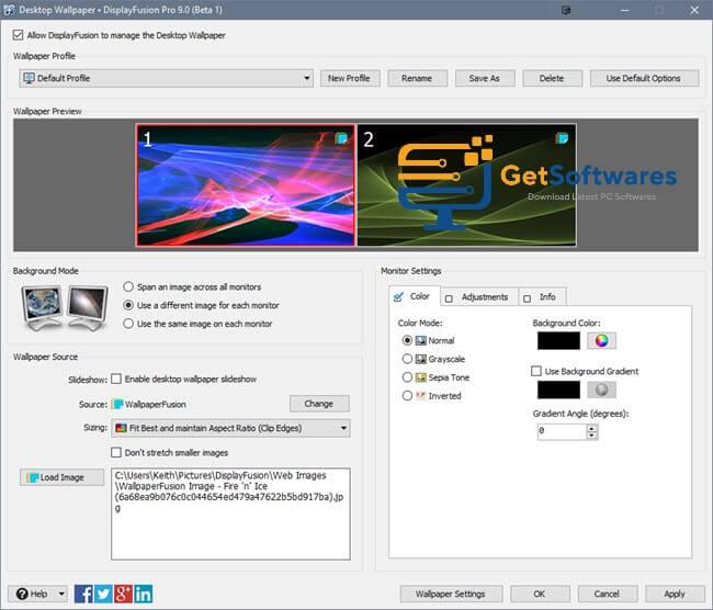 DisplayFusion Crack 9.7.2 Plus License Key 2021 Download
