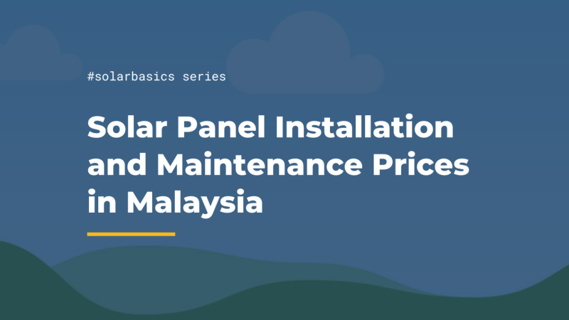 solar panel maintenance and installation price malaysia