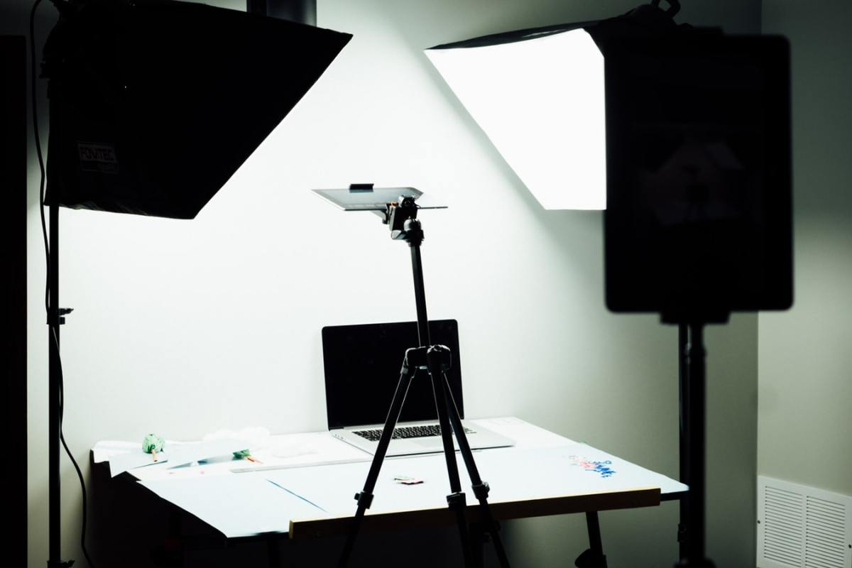 Product photography LED lighting setup