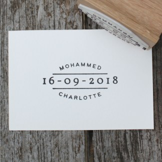 custom rubber stamp wedding favour save the date