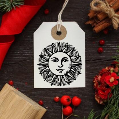 sun rubber stamp