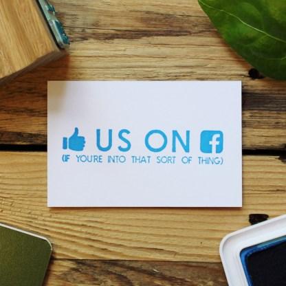 facebook social media icon rubber stamp