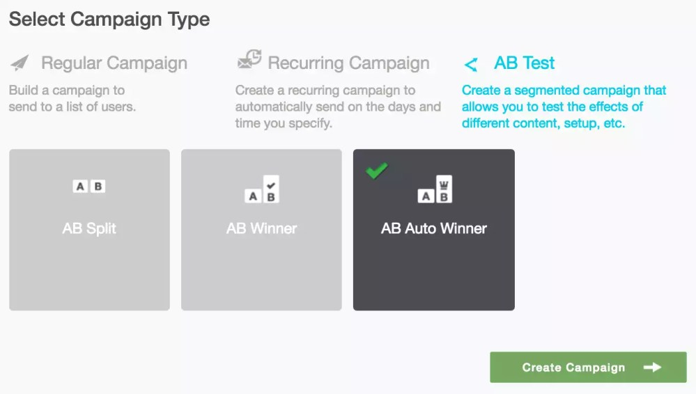 medium resolution of campaigns 39 select campaign type ab auto winner