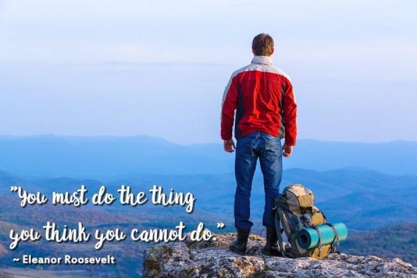 personal development man on mountain
