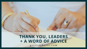 Read more about the article Thank You, Leaders