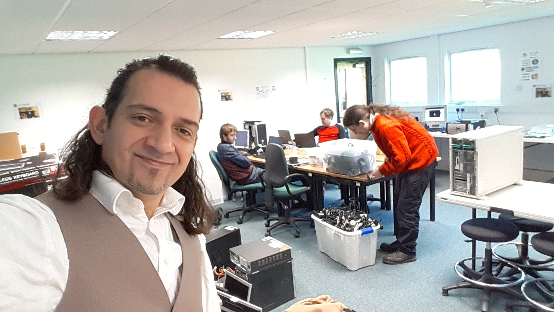 Everyone Is Busy At The Gtt Lab Today Get Technology Together