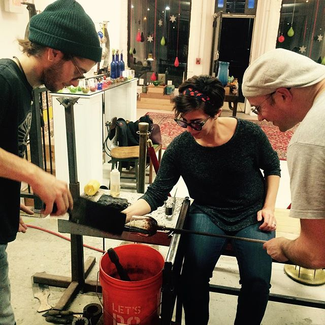 gatherglass thursday night glass blowing class makes of a great way to make friends