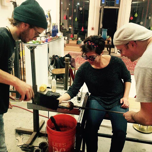 gatherglass thursday night glass blowing class makes of a great way to make friends