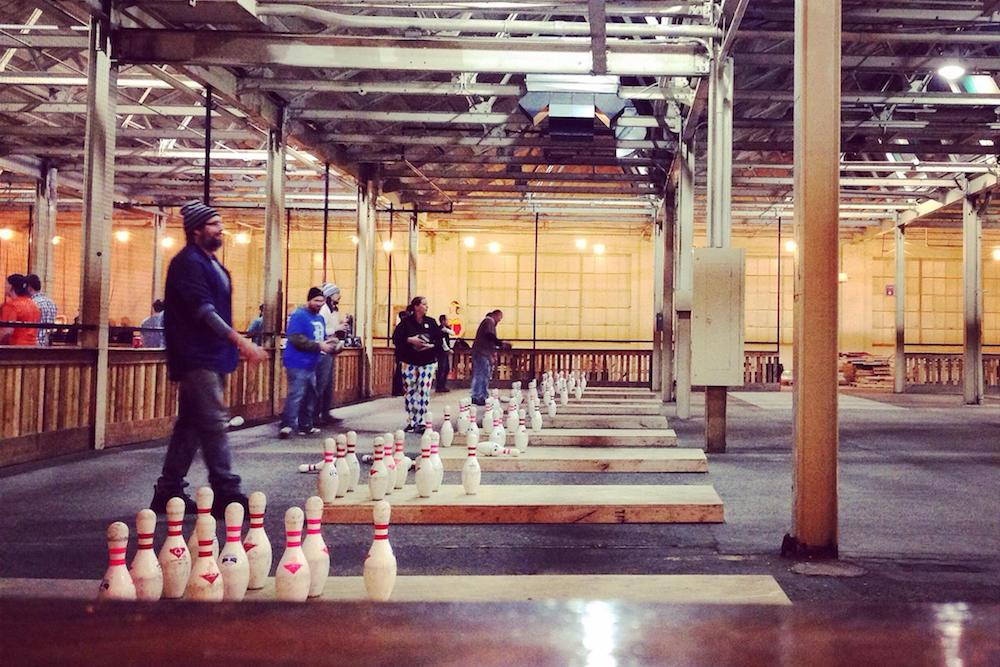 fowling warehouse is an original way to meet new friends in Detroit