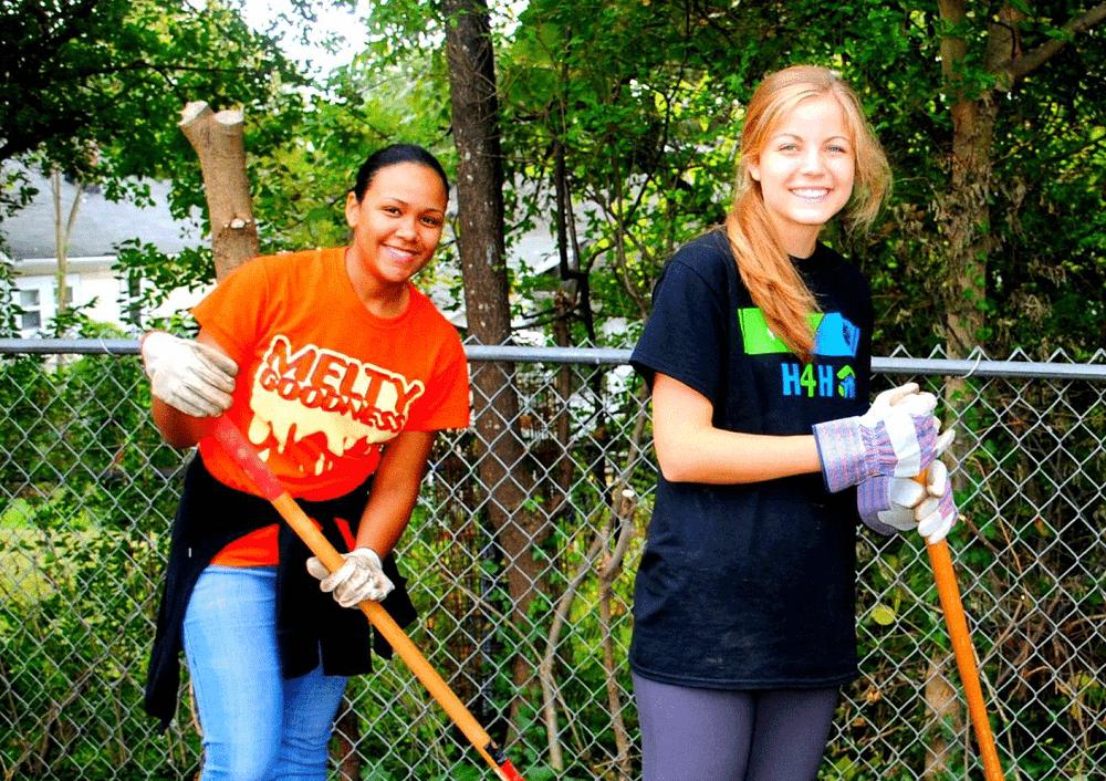 do volunteerig work in raleigh and make friends
