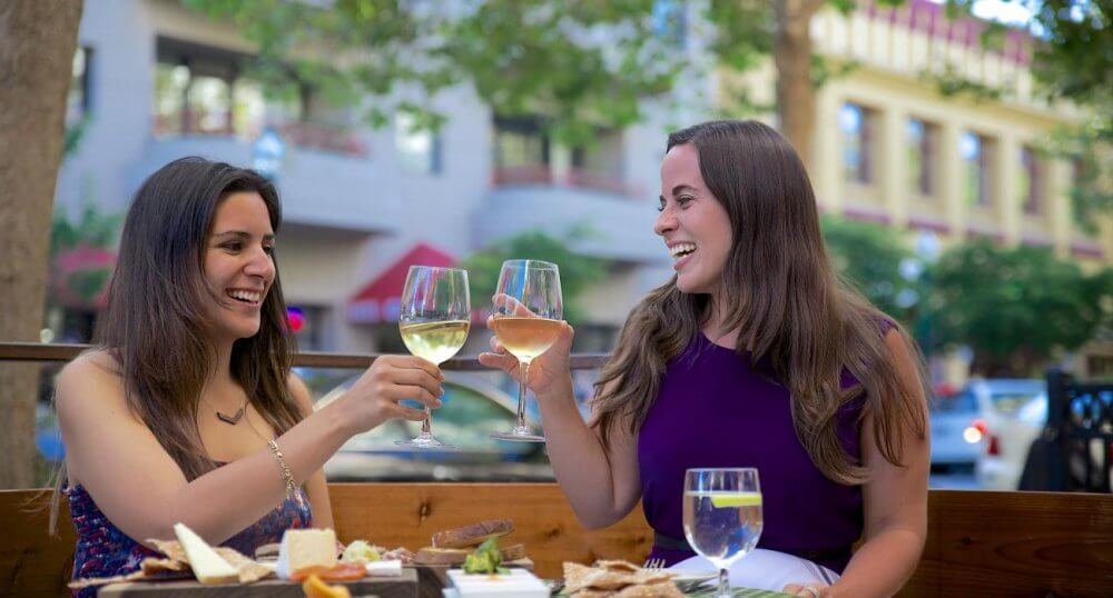 Toast With New Friends At Wine & Dine In Fayetteville