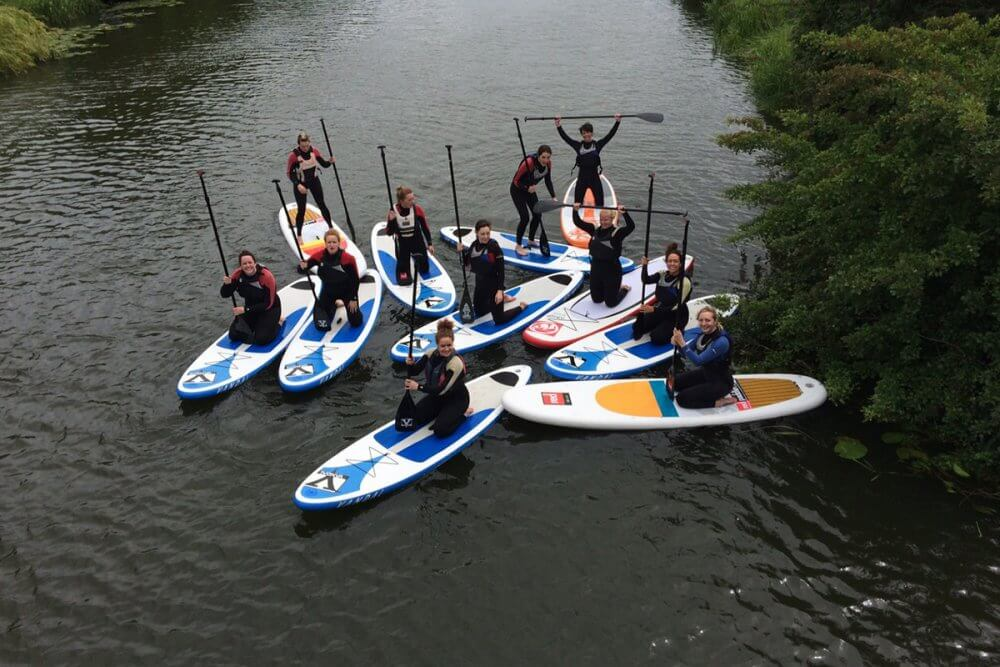 Paddle Boarding Is A Good Way Of Making New Friends In Cardiff