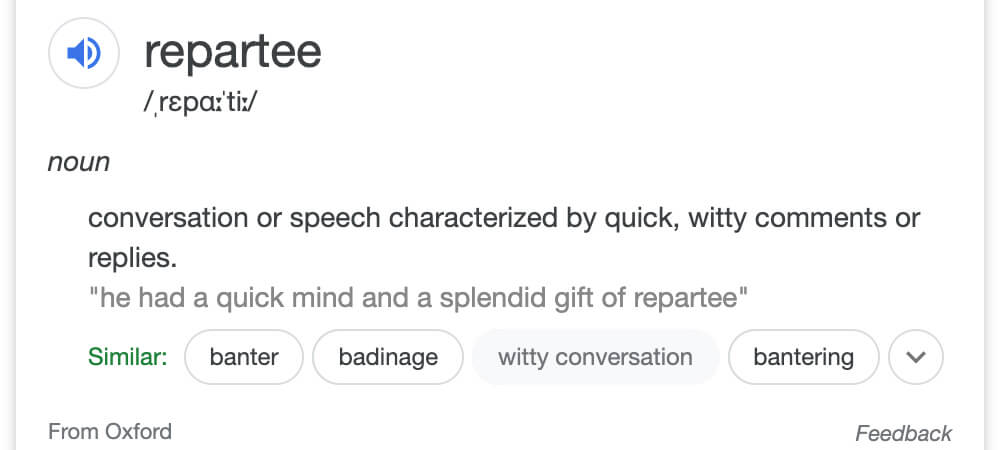 Repartee Definition
