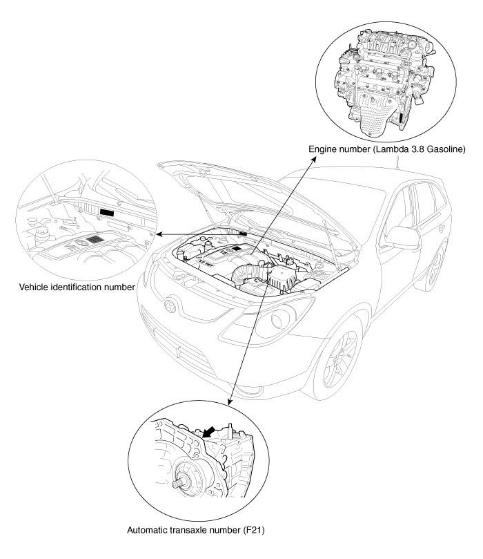 2013 HYUNDAI ix55 Veracruz 3,8 Service Manual
