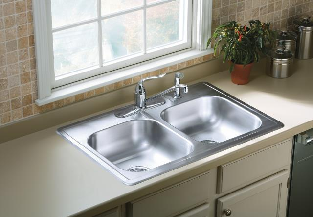 sterling kitchen sink sterling 33 x22 stainless steel pro33226 5f drop in 2512