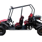 Jeep Go Kart 150 cc Red Side