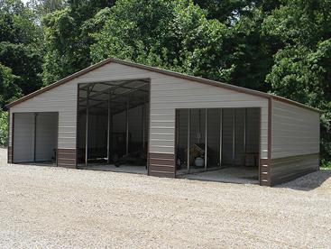 All Steel 3 bay storage building