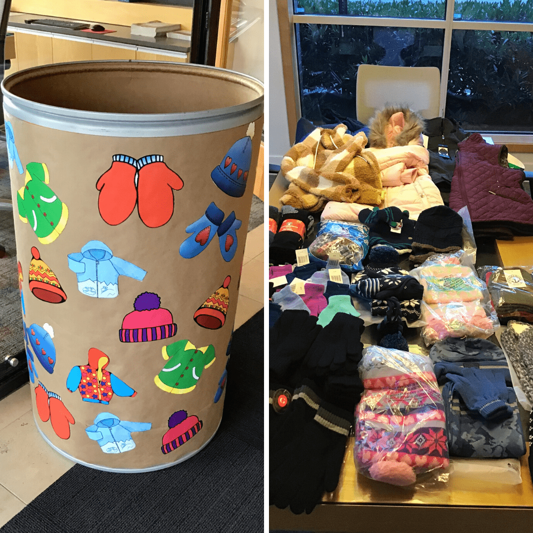 Windermere Sand Point donated a barrel full of winter accessories including 4 jackets, a vest, 20 hats, 14 socks, 35 pairs of mittens and gloves, and 6 scarves.