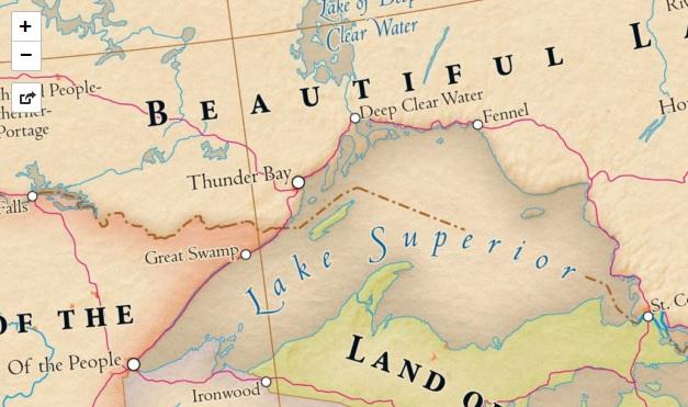 lake superior etymology map