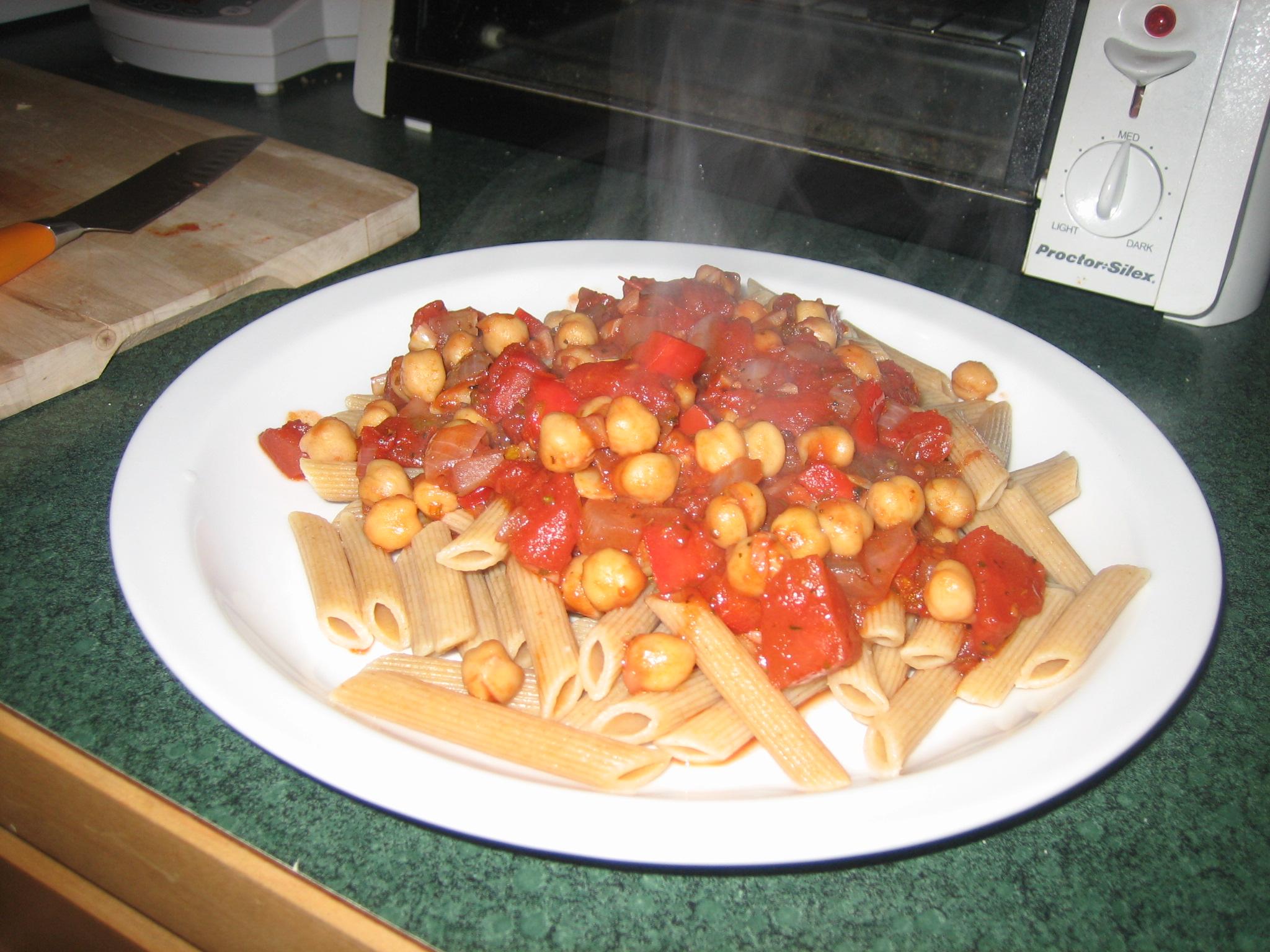 Quick Chickpea Pasta Sauce