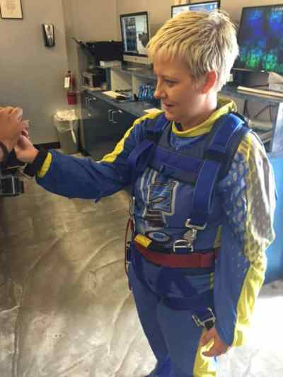 Getting suited for the jump!