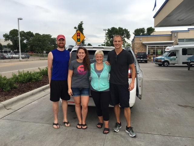 Tim, Bonnie, myself, & Collin before picking Kristine up.