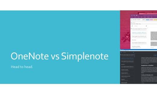 Onenote vs simplenote