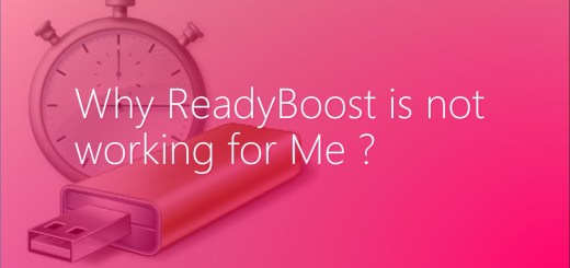 why Windows readyboost is not working for me