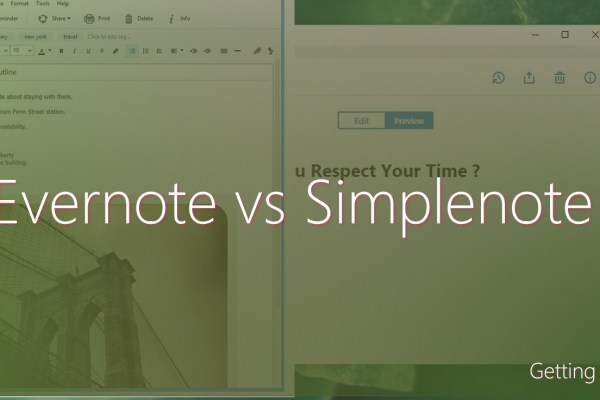 evernote vs simplenote