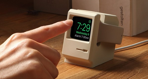 An Apple Watch Stand Turns The Watch Into A Miniature Macintosh