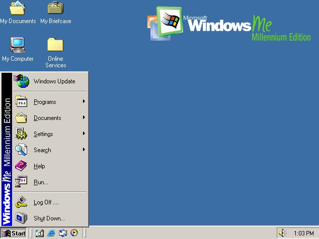 Windows ME desktop