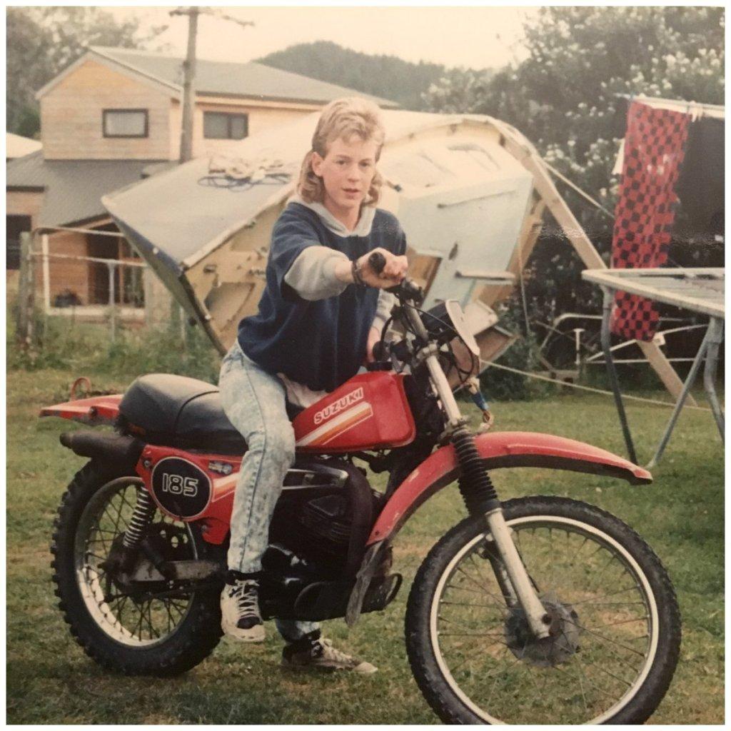 James first bike