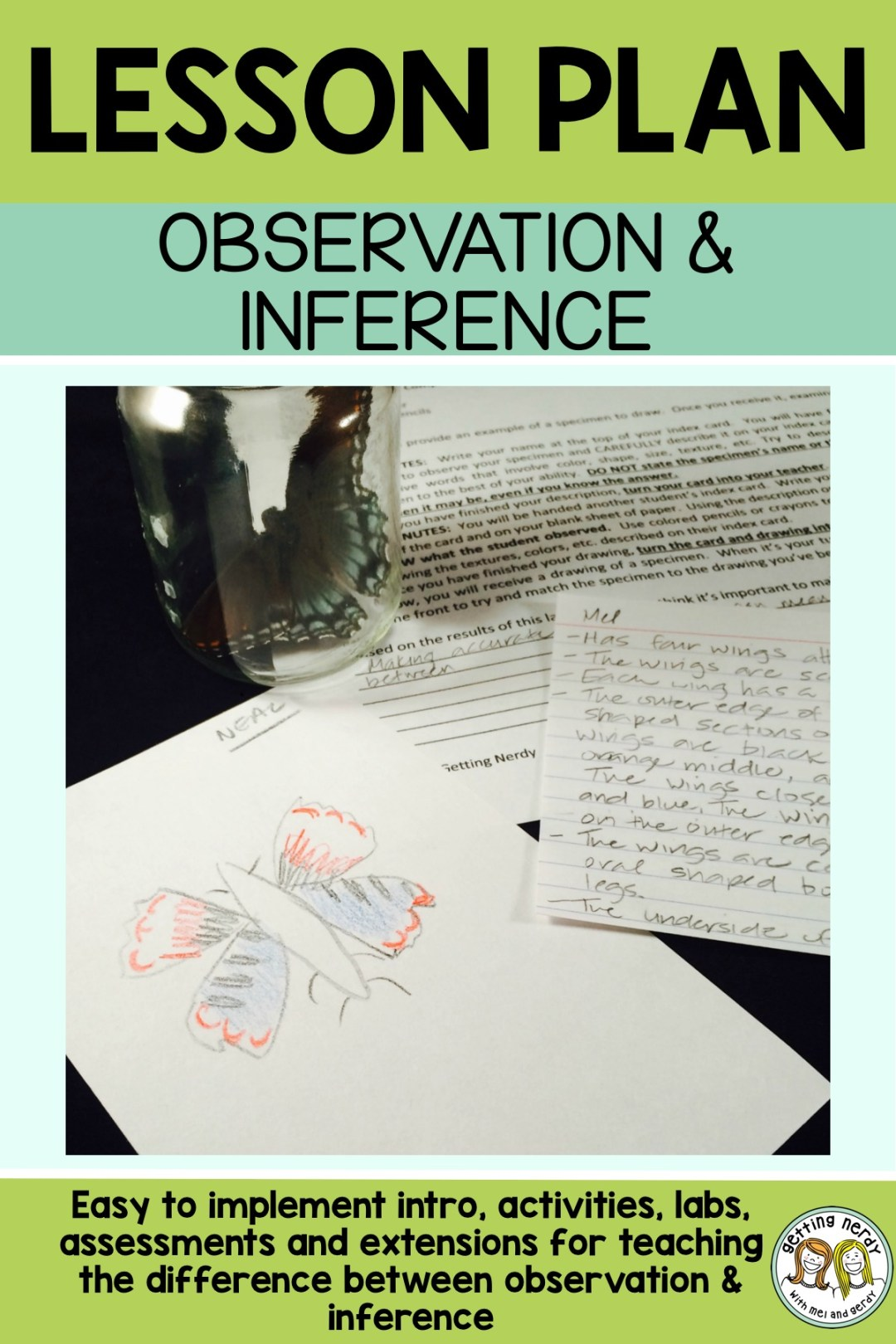This is a great lesson for introducing the scientific method and teaching the difference between observation and inference #gettingnerdyscience #scientificmethod